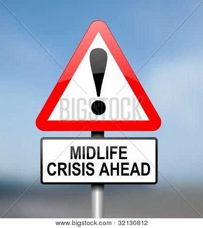 Midlife Crisis Concept.