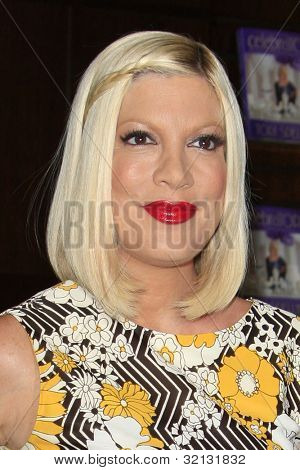 """LOS ANGELES - APR 17:  Tori Spelling at a signing for her book """"celebraTORI"""" at Barnes & Noble at The Grove on April 17, 2012 in Los Angeles, CA"""