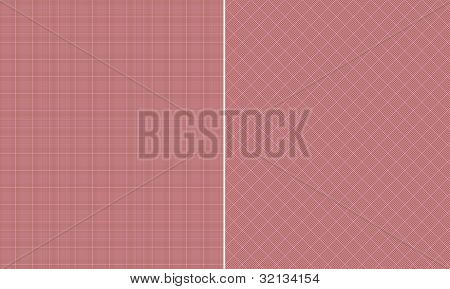 Pink & Brown Houndstooth Paper Set
