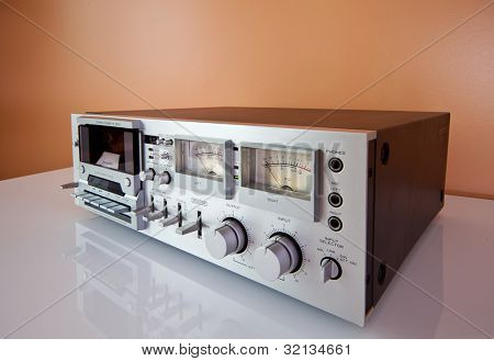 Analog Signal electronic VU Meter closeup