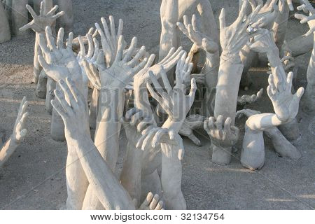 Hands Sculpture Frome Hell