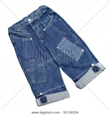 Kinderbekleidung - Jeans isolated over white background
