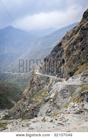 Road In Himalaya Mountains
