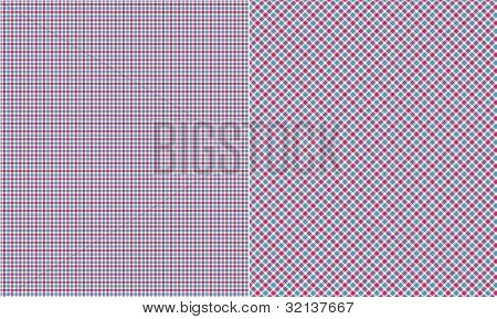 Blue Pink & White  Plaid Paper Set