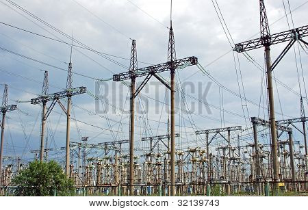 Electricity line of Chernobyl nuclear power station
