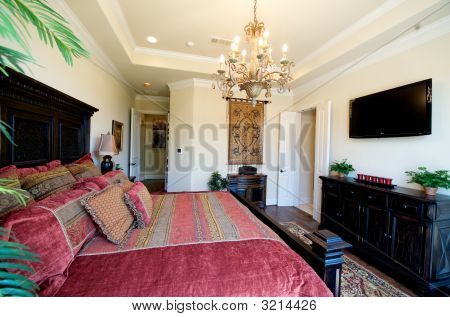 Brightly Decorated Master Bedroom