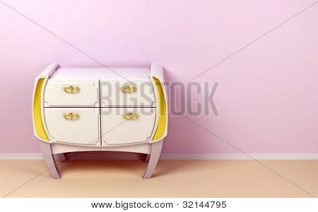white modern commode