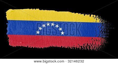 Brushstroke Flag Venezuela