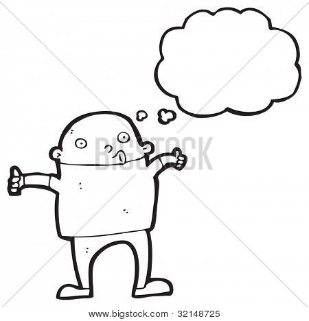 cartoon man giving thumbs up sign