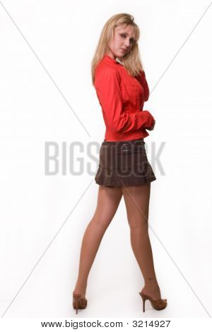 Woman In Mini Skirt