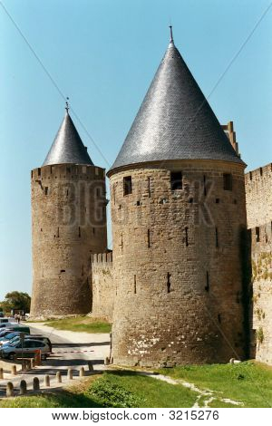 Turrets At Carcassonne