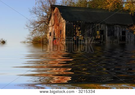 Flooded Iowa Farm