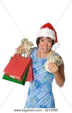 Compras de Navidad de mujer