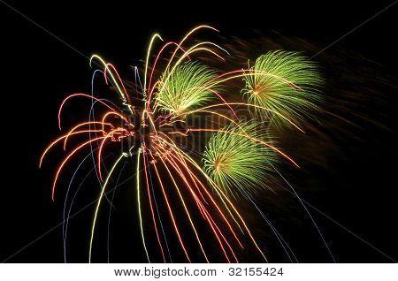 4 de julio los fuegos artificiales