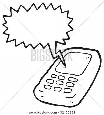 cartoon mobile phone talking