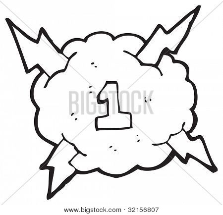 cartoon thundercloud number one
