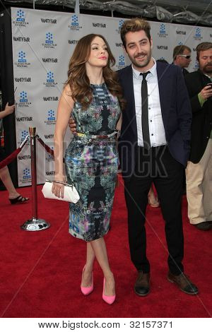 LOS ANGELES - APR 12:  Rose McGowan, Davey Detail arrives at the TCM 40th Anniv of