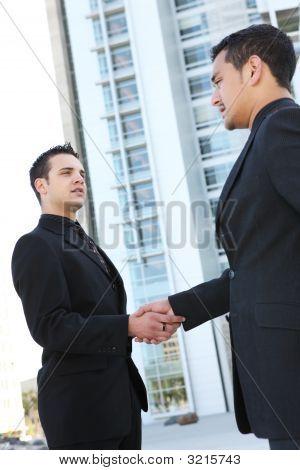 Business Man Team Shaking Hands