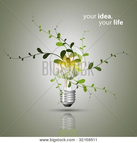 Concepto de bulbo - Eco
