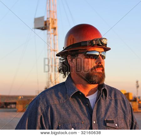 Trabalhador de campo de petróleo
