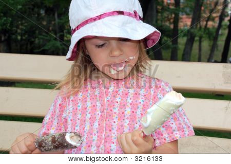 Eating Two Ice-Creams