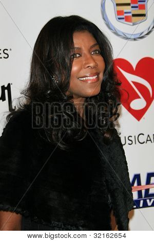 LOS ANGELES, CA - FEB 9: Natalie Cole at the 2007 MusiCares Person Of The Year at the LA Convention Center on February 9, 2007 in Los Angeles, California