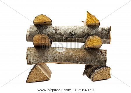 Firewood stacked for bonfire
