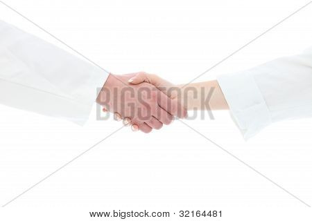 Handshake Between Medical Staff