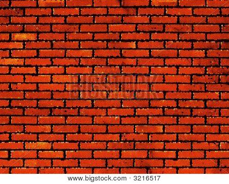 Red Mosaic Wall