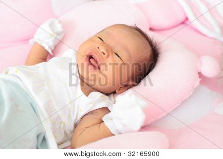 face of infant baby