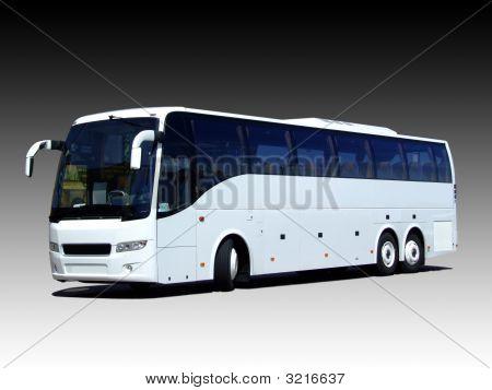 Autobús blanco en blanco
