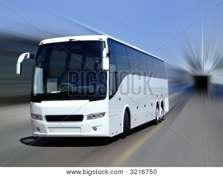 White Coach In Motion