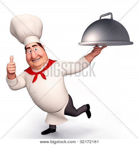 Chef with big bowl