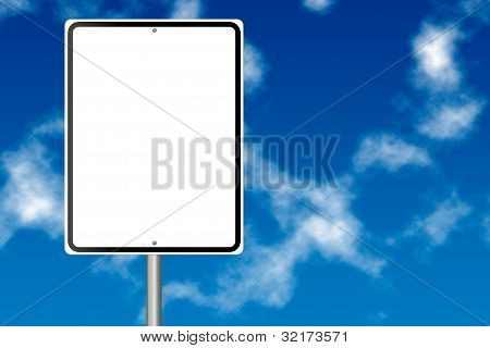 Blank Information Road Sign
