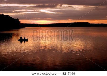 Sunset By The Lake