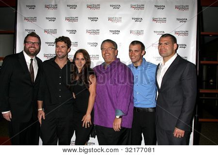 LOS ANGELES - APR 13:  Rutledge Wood, Brody Jenner, Kate del Castillo, Jerry Westlund, Bryan Clauson, Cain Velasquez at the  Grand Prix Foundation Gala at Westin on April 13, 2012 in Long Beach, CA