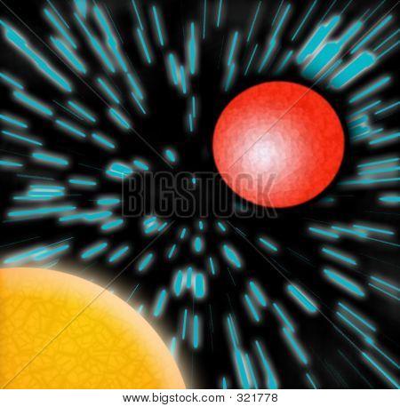 Planetas Marte sol azul estrellas de Zoom