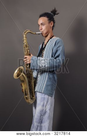 Young Saxophone Player
