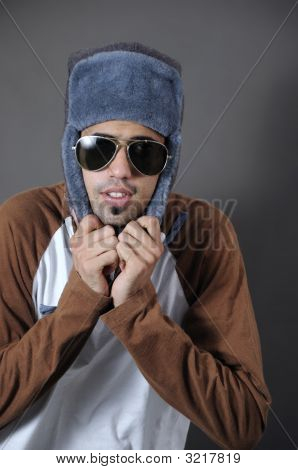 Cool Guy In Winter Clothes