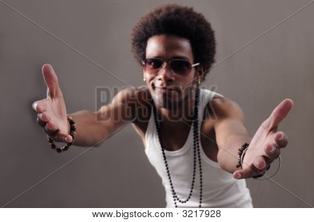 Latino Man With Open Arms