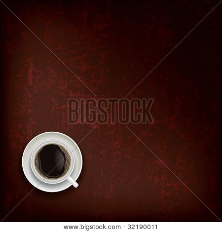 Abstract Grunge Background With Coffee Cup