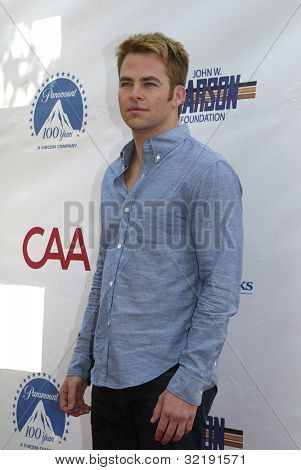 LOS ANGELES - APRIL 15: Chris Pine arrives at The 3rd Annual Milk and Bookies Story Time Celebration on Sunday, April 15, 2012 at the Skirball Cultural Center in Los Angeles, CA.