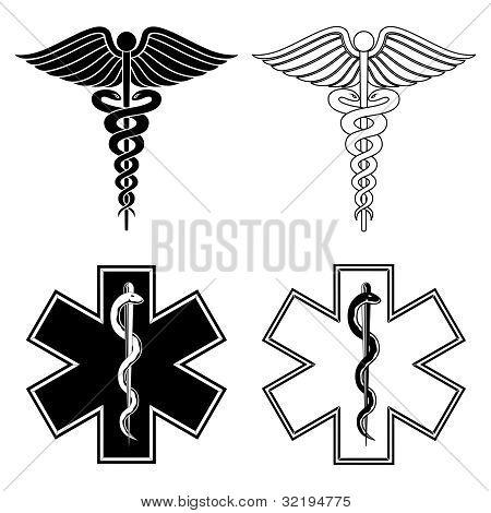Caduceus and Medical Symbols