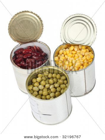 Color photo of a grain in metal tin