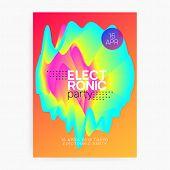 Music Fest. Feminine Electro Concert Presentation Design. Electronic Sound. Night Dance Lifestyle Ho poster