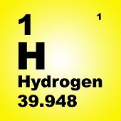 Periodic Table Of Elements: Hydrogen poster