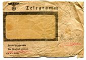 image of telegram  - Envelope of telegram from Nazi occupation in Poland - JPG