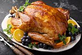 Whole Roasted Turkey For Thanksgiving Or Christmas Holiday Dinner poster