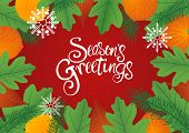 Decorative Leaves Background For Christmas poster