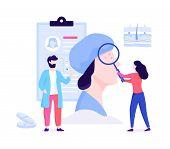 Dermatologist Concept Illustration. Dermatology Specialist, Face Skin poster